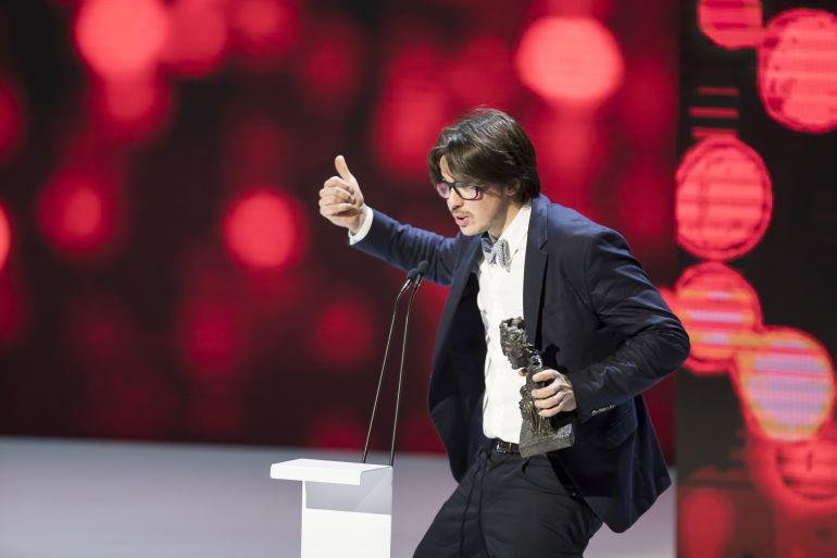 Andrés Goteira, con el premio al mejor director