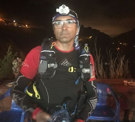 José Miguel Pérez, corredor de ultratrails en la Transgrancanaria
