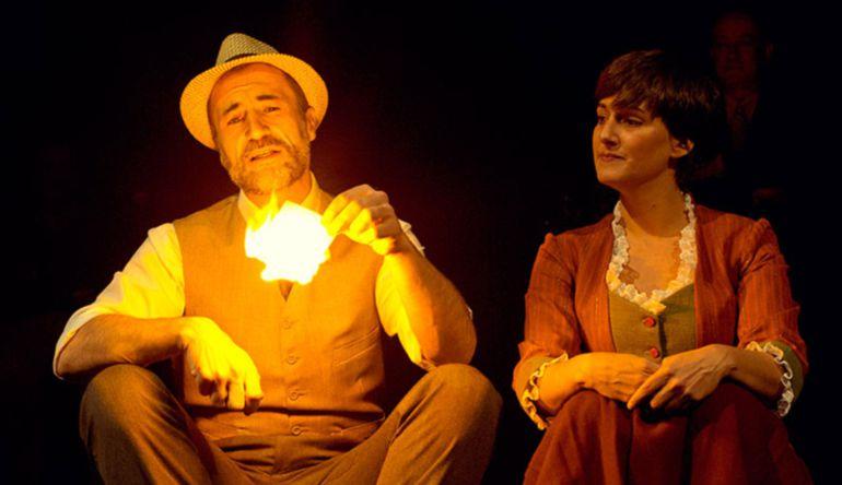 Alfonso Mendiguchía y Patricia Estremera en uno de los momentos de la visita.
