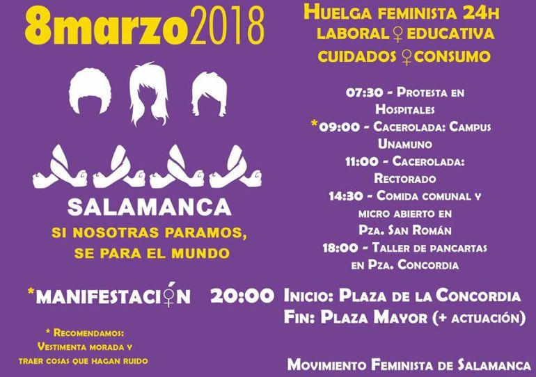 Salamanca también se vestirá de morado este jueves