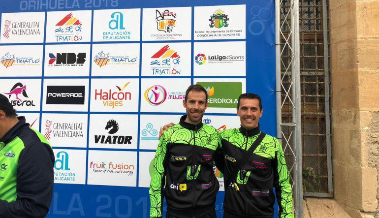 José Vicente López y Manuel Molero del CT Vialterra Úbeda participaron en el Campeonato de España de Duatlón MD