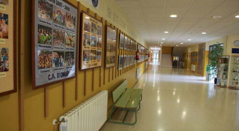 Imagen del interior del CEIP Riomar de Castro.