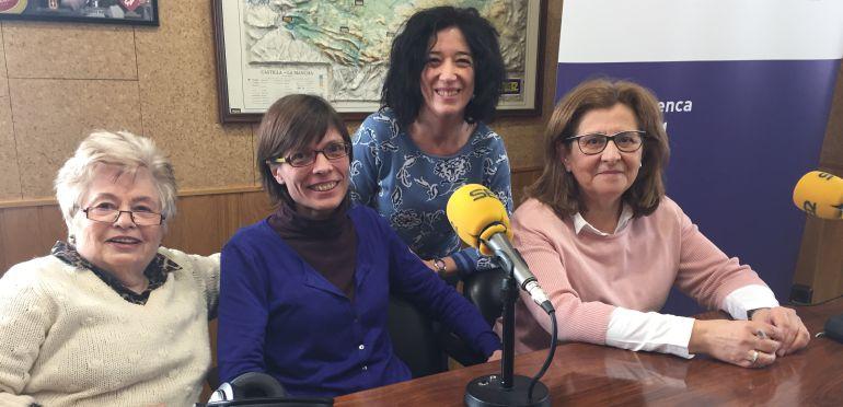 Teresa Marín Ecced, Erica Saludes, Aurora Duque y Carmen Torralba en la tertulia de mujeres de Hoy por Hoy Cuenca.