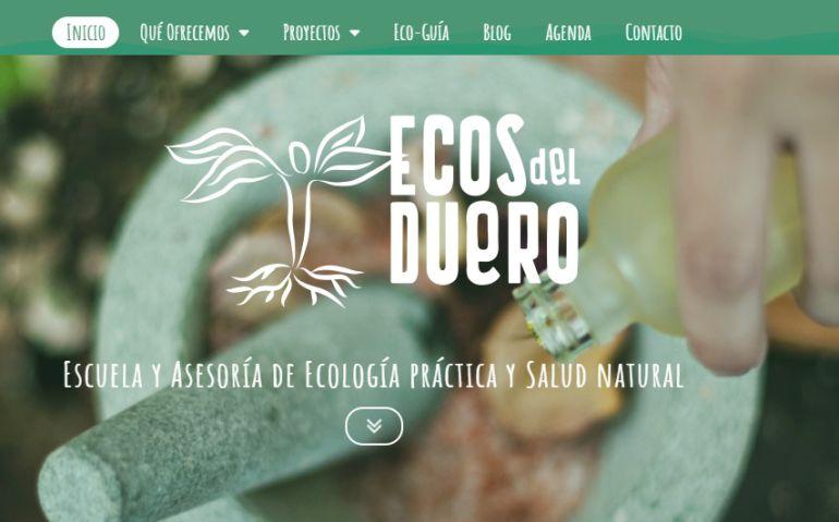 Página web de Ecos del Duero