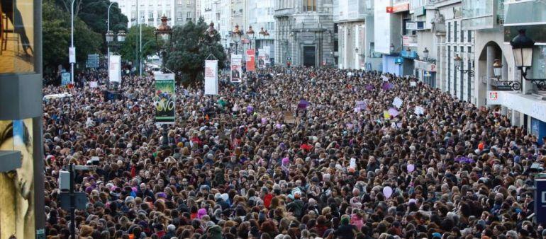 Manifestación feminista en A Coruña