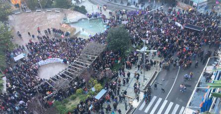 Vista aérea de la manifestación del 8 de Marzo en Jaén.