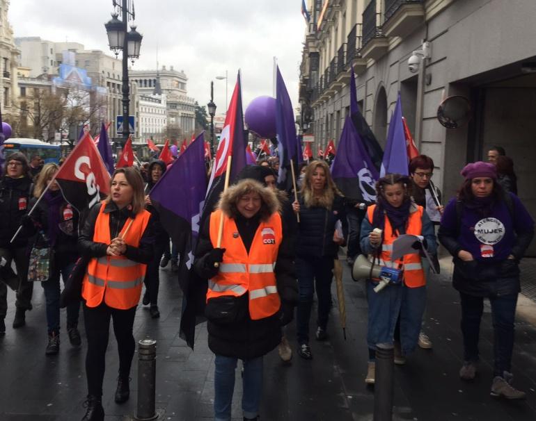 Madrid pone en marcha la huelga feminista del 8 de marzo