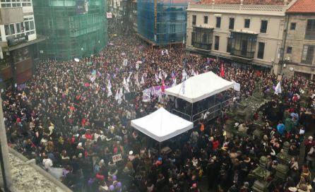 Manifestación feminista en Pontevedra