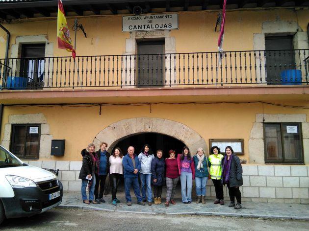 Concentración de mujeres de la Sierra Norte en Cantalojas.