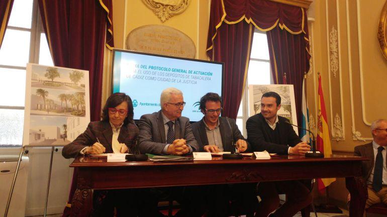 Firma del protocolo para el desarrollo de la Ciudad de la Justicia