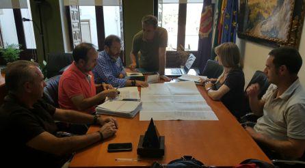 Una de las reuniones técnicas donde se estudió el proyecto de urbanización de Vadillo