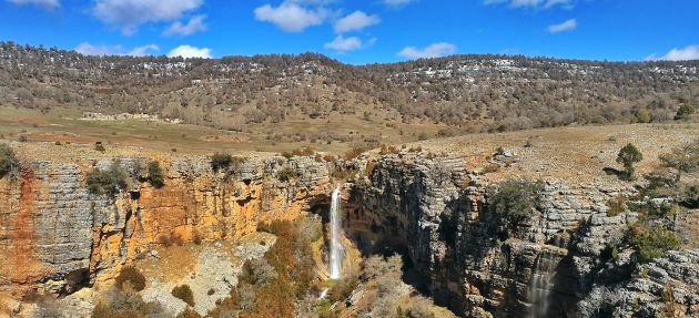 Cascada del nacimiento del río Trabaque.