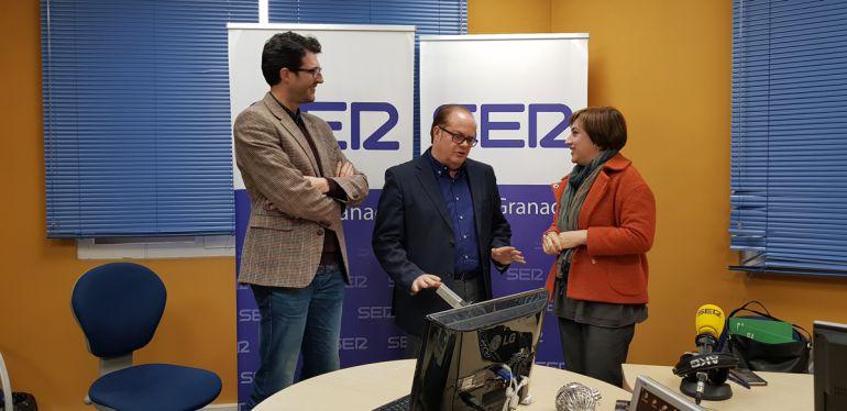 Sandra García, antes de la entrevista en Radio Granada