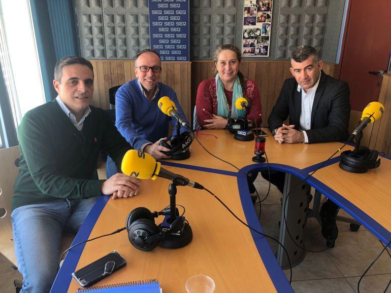José Vicente Marí, Joan Serra, Viviana de Sans y Julián Aguilar
