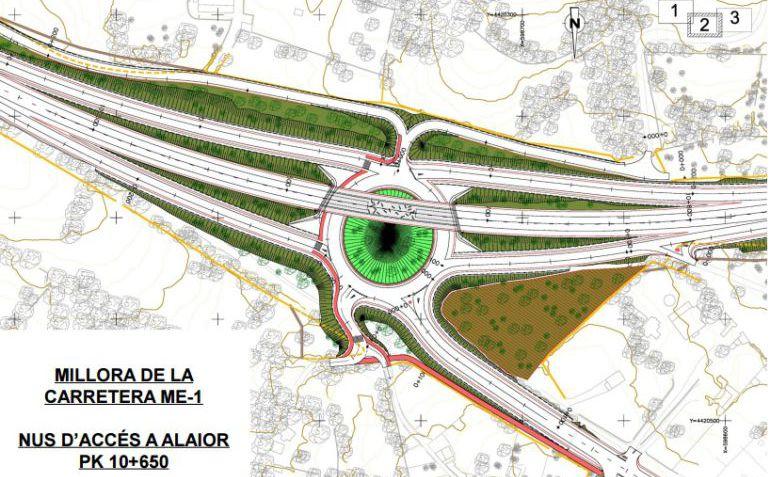 Plano del desvío  de Alaior que estará operativo en abril.