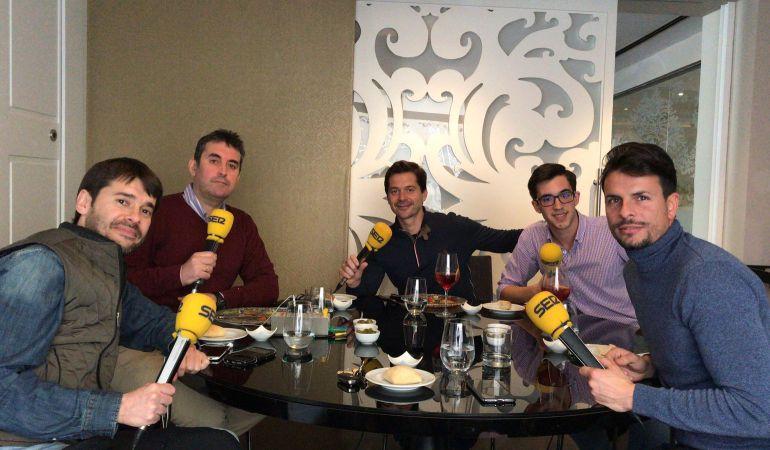 De izquierda a derecha, Miguel Ángel Chazarri, Florencio Ordóñez, Víctor Salas, Daniel Espartero y Manuel Nieto