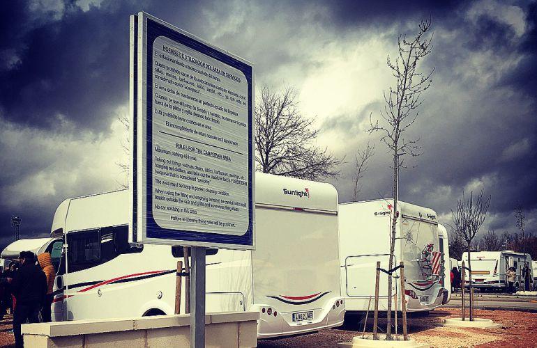 Más de 150 turistas estrenan el espacio para autocaravanas en Criptana