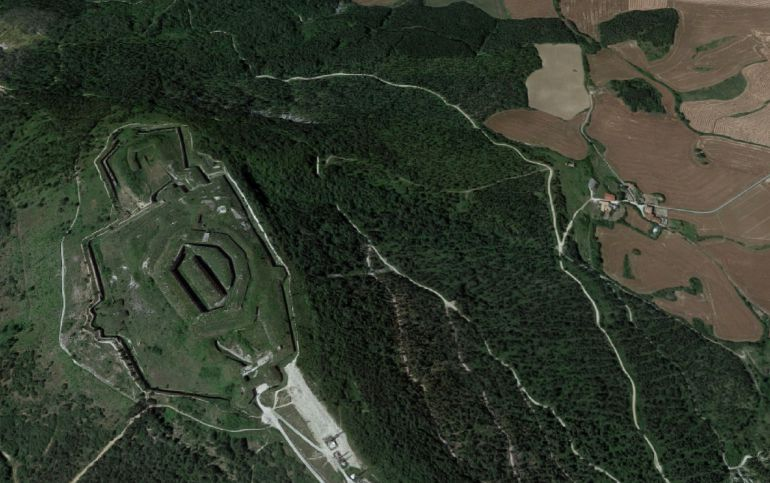 Fuerte de San Cristóbal en el Monte Ezcaba de Pamplona