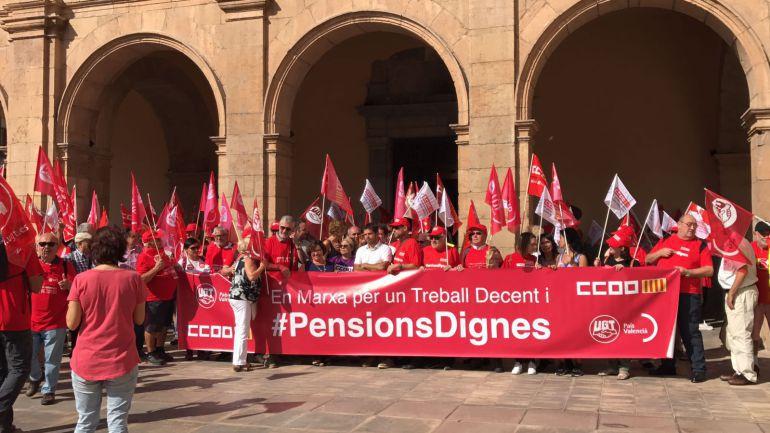 La pensión media en Castellón es 150 euros menor que la media estatal