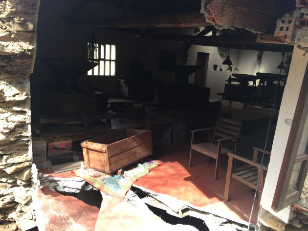 Se derrumba el antiguo molino dos Galiñeiros en Cambre