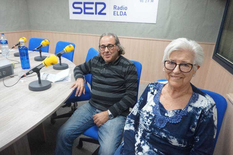 Paco Amores y Pepi Zamora en Radio Elda Cadena SER