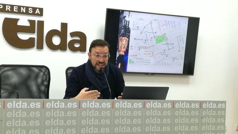 José Santa, presidente de la Comisión Gestora de la Junta Mayor de Cofradías de Elda