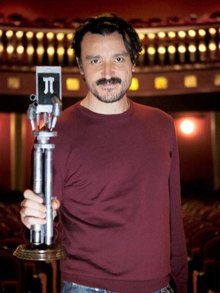 David Pareja, actor y director, con el trofeo