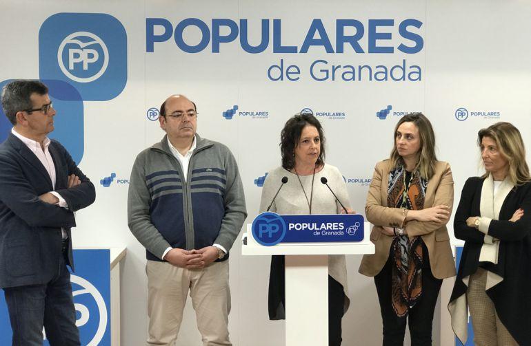 """Rueda de prensa del PP en la que ha denunciado la """"situación insostenible"""" de los pacientes de radioterapia en Granada"""