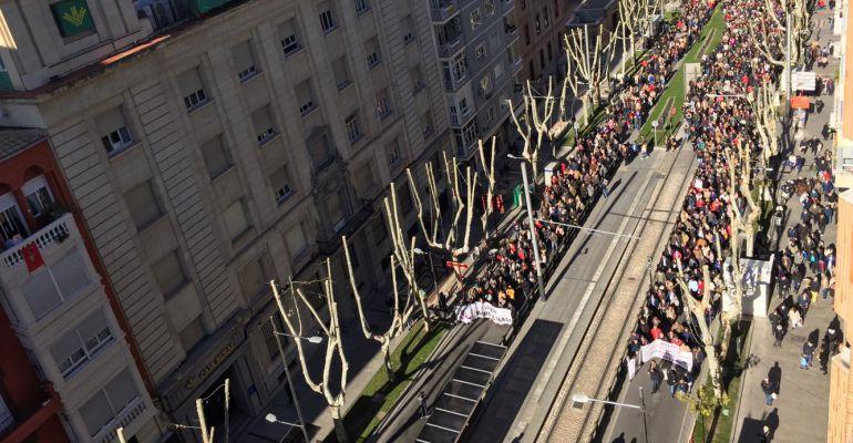 Última manifestación de 'Jaén Merece Más' el pasado 17 de diciembre.