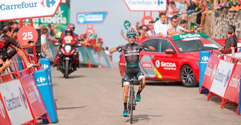 Rafa Majka fue el ganador de la etapa en La Pandera el pasado año.
