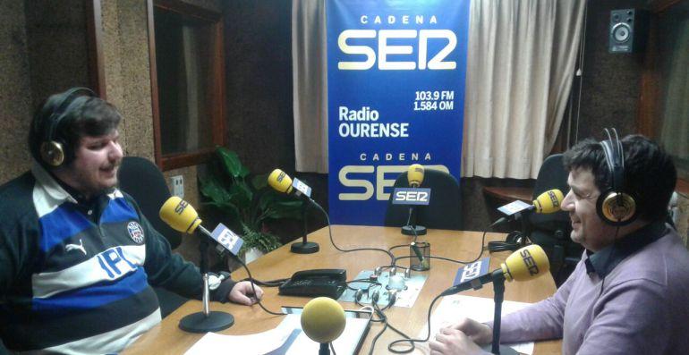 Francisco Fraga durante su entrevista en Radio Ourense