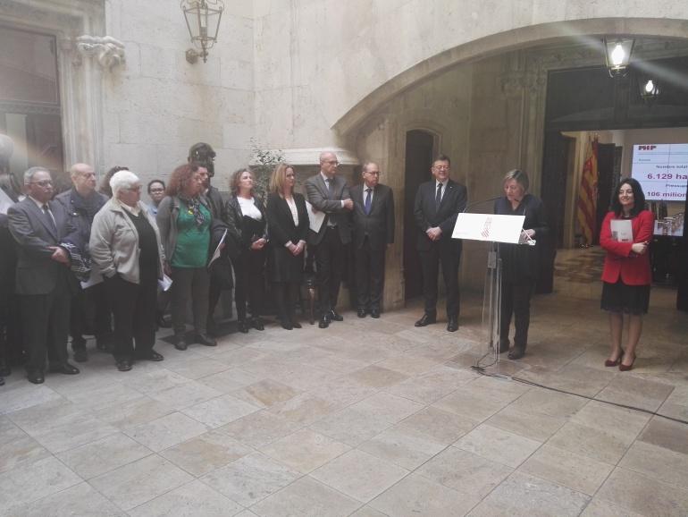 Presentación del Plan de Rehabilitación y Ampliación del Parque Público de Viviendas de la Generalitat