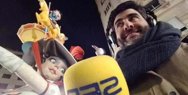 Luis Fernández y el remate de la falla de Periodista Azzati
