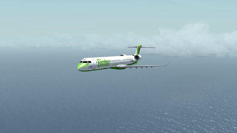 Imagen de un avión Bombardier como el que cubrirá la ruta Vigo-Gran Canaria