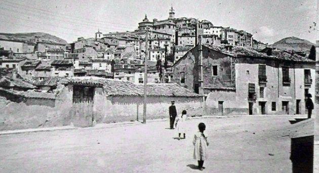 Calle de las Torres en 1915.