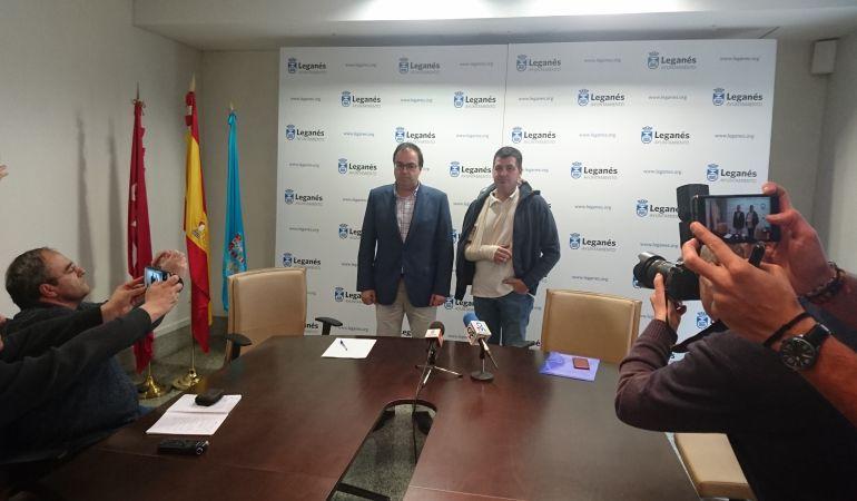 El alcalde de Leganés junto al director general, la semana pasada