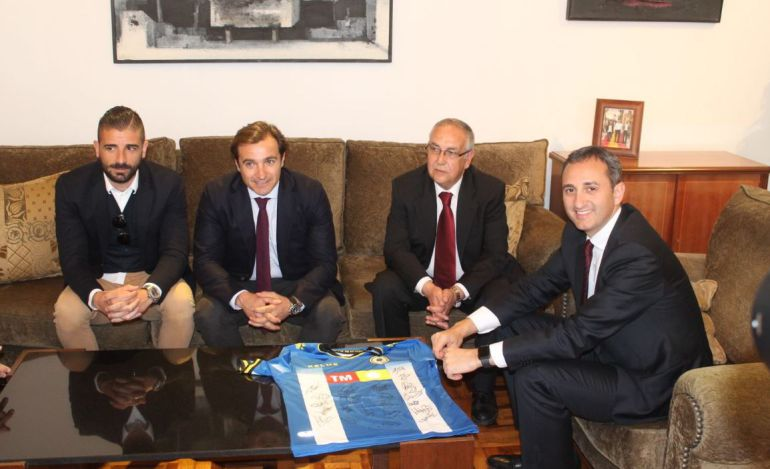 César Sánchez, presidente de la Diputación de Alicante, recibe a los directivos del Hércules CF