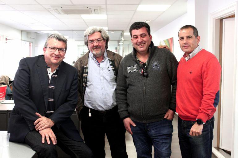 Fernando Llopis, Antonio Balibrea, Vicente Cutanda y Carlos Arcaya