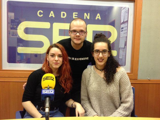 Alex Sereno, Marta Nebot y Ruth Ceballos.