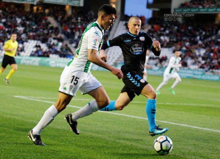 Loureiro, en el partido ante el Lugo