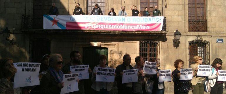 Movilización del BNG en la Casa Cornide