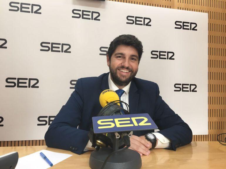 Fernando López Miras, durante su entrevista en Hoy por hoy en la Cadena SER.