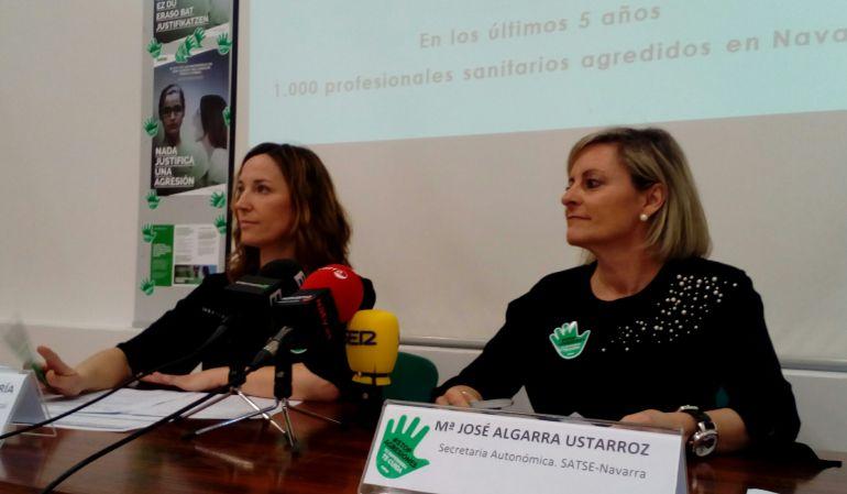 Responsables del sindicato de enfermería Satse en Navarra