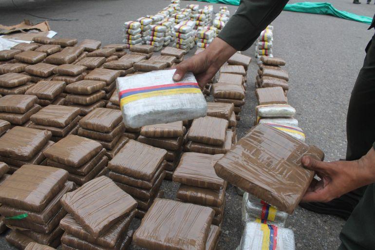 Paquetes de droga incautados