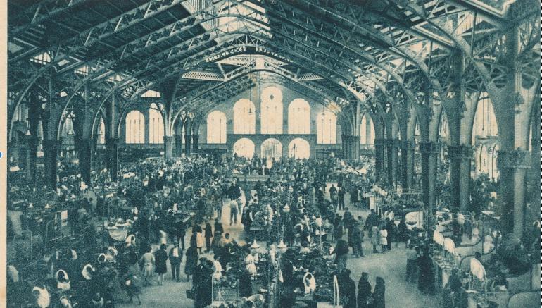 Así era el Mercado Central en la década de 1920