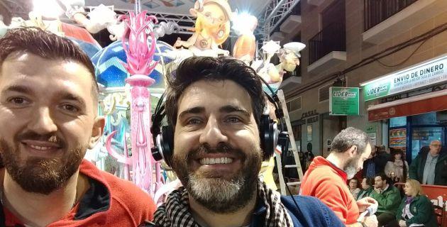 Hemos estado con José Gallego, el artista de Convento Jerusalén, plantando la falla infantil