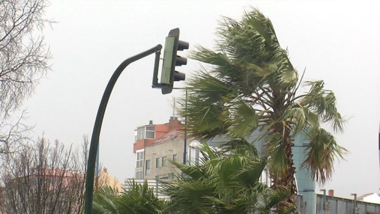 El temporal causó pequeñas incidencias en la ciudad