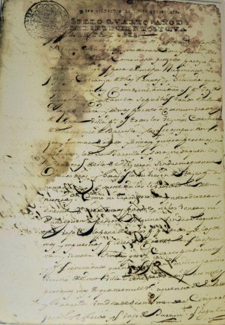 Año 1746. Solicitud Administrador Rentas Reales Barrilla y Sosa para mayor control del fraude