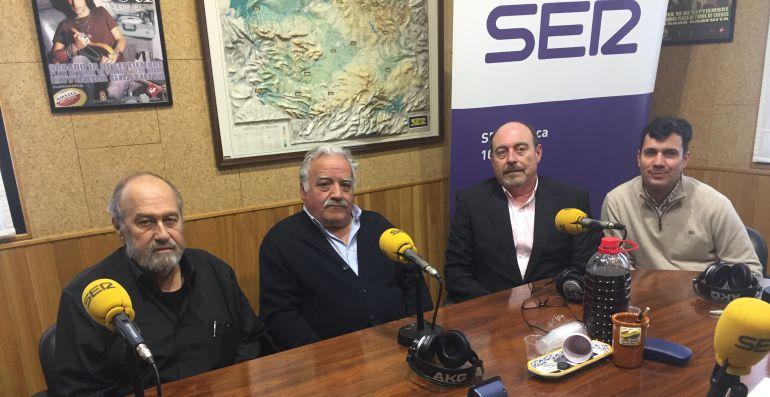 Miguel Ángel Saiz, Luis Esteban Cava, Germán Chamón y Pedro Vallejo en el estudio de SER Cuenca.