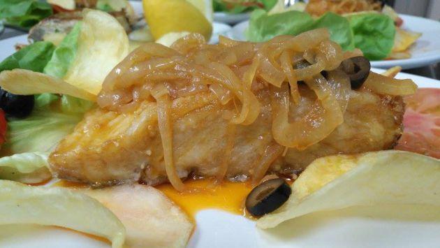 Un plato de Casa Damián, en Foz